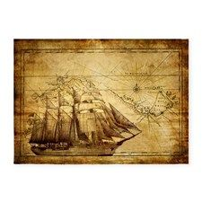 Brown Pirate Treasure Map Wallpaper Wall Sticker Outlet