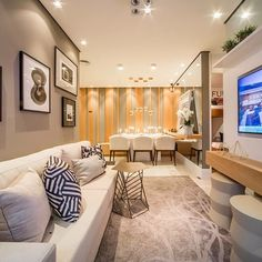 Learn best residence furnishings for any kind of furnishings, see remarkable ideas good quality home furnishings and design. Condo Living, Home Living Room, Living Room Decor, Dining Room, Interior Desing, Interior Architecture, Apartment Interior, Apartment Design, Apartment Ideas