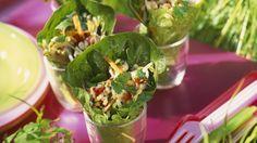 Salat-Wraps mit Hähnchen