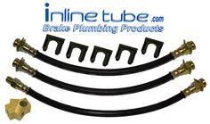 70-71 Mopar A-Body Duster Demon Front & Rear Drum Brake Rubber Flex Hose Set Kit