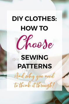 Are you a sewing beginner wanting to start making your own DIY clothes? Click to read about the five things you need to consider when choosing a sewing pattern! So many sewing beginners get frustrated by sewing patterns when they start learning to sew. This helpful (and short!) post will highlight the five important things to think about when starting to make your own DIY clothes! #sewingprojects #sewingpatterns #sewing #learntosew #makeyourownclothes #DIYclothes Beginner Sewing Patterns, Modern Sewing Patterns, Easy Sewing Projects, Sewing Basics, Sewing For Beginners, Sewing Tutorials, Sewing Hacks, Sewing Crafts, Basic Sewing