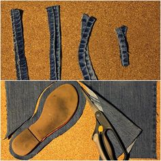 Upcycled Denim Sandals | Tutorial | thee Kiss of Life Upcycling