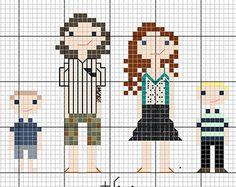 cross stitch pixel family - Google Search