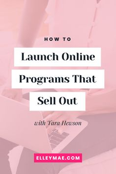 Think you can't launch and sell out your online program during a global pandemic? In this podcast episode, you will learn all about how to launch online programs that sell out with podcast guest, Tara Hewson. Earn More Money, Make Money Online, How To Make Money, Business Launch, Online Business, Business Tips, Online Jobs For Moms, Resume Writer, Twitter Tips