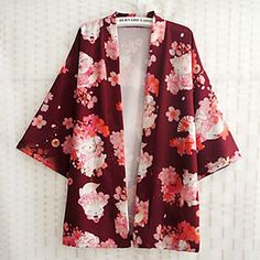 Buy Rega Cherry Blossom Print Kimono Jacket at YesStyle.com! Quality products at remarkable prices. FREE WORLDWIDE SHIPPING on orders over Mex$650.