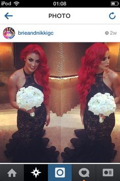 All red everything wedding ❤❤ Eva Marie