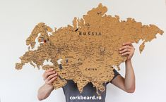 World Cork Map. 6 mm cork on adhesive film - cm; 10 mm cork on adhesive film - cm; It easy to place this cork map on the wall. Cork map has side special sticky layer Cork map consist of 45 cork stickers(continents and islands). Cork World Map, Cork Map, Travel The World Quotes, Home Wall Decor, Travel Aesthetic, Hacks Diy, Summer Kids, Map Art, Decoration