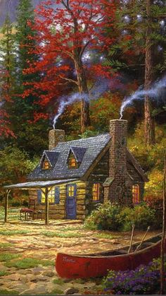 Travel Discover Gardens Discover Thomas KinkadeYou can find Thomas kinkade and more on our website. Beautiful Paintings, Beautiful Landscapes, Easy Paintings, Landscape Art, Landscape Paintings, Thomas Kinkade Art, Graffiti Kunst, Kinkade Paintings, Beautiful Places