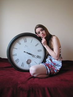 GirlWithClock.Stock01 by *Jessica-Lorraine-Z on deviantART