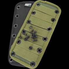 ESEE Junglas MOLLE Panel with Fixings. Bolts directly to the Junglas sheath allowing the user to attach MOLLE compatible gear directly to the Junglas knife and sheath. Honda Accord Lx, Black Labs, Pouches, Edc, Bugs, Beetles, Black Labrador, Every Day Carry, Insects