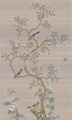 x Chinoiserie Handpainted Artwork on Light Purple Silk Silk Wallpaper, Hand Painted Wallpaper, Chinoiserie Wallpaper, Chinese Patterns, Whatsapp Wallpaper, Oriental Design, 3d Max, Silk Painting, Japanese Art