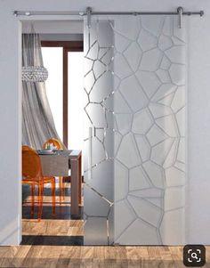 Door Design Interior, Home Room Design, Living Room Designs, Interior Decorating, House Design, Living Room Partition, Room Partition Designs, Window Glass Design, Sliding Door Design