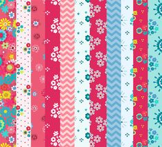 Patterned Floral Scrapbook/Decoupage/Background printable paper pack ...