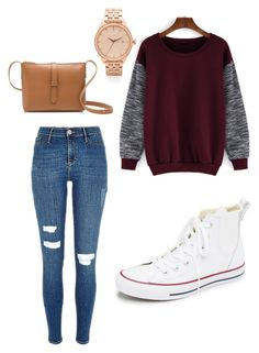 """""""simple and easy"""" by alexa-barnes on Polyvore featuring Converse, J.Crew, Nixon, women's clothing, women's fashion, women, female, woman, misses and juniors"""