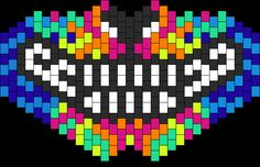 Rainbow wolf kandi pattern.