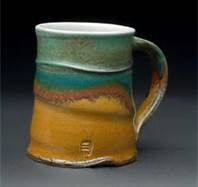 wheel thrown pottery ideas - Bing Images.. ..nice! Threat colour...