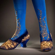 Embroidered stockings, and shoes