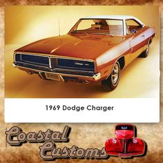 "1969 Dodge Charger. If you don't recognize the '69 Charger, then you simply weren't watching TV in the 1980s. Painted orange and nicknamed General Lee, this coupe was quite a star on TV's ""The Dukes of Hazzard."" Its top available engine, however, the all-conquering 426 Hemi cranked out an astounding 425 horses, although the engine alone weighed nearly half a ton. Contact us for more info: 044 697 7583 #custom #dodge #charger"