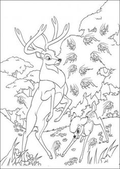 Bambi coloring page 44