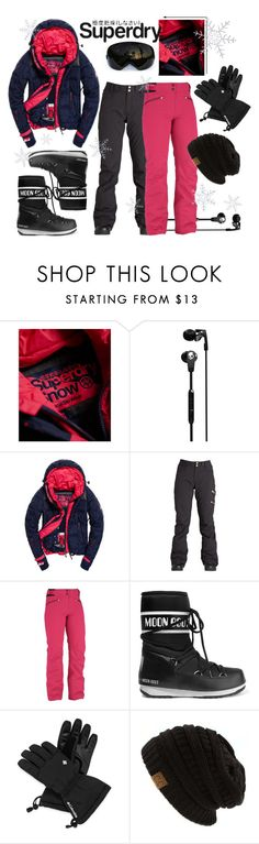 """""""The Cover Up – Jackets by Superdry: Contest Entry"""" by aki9 ❤ liked on Polyvore featuring Revo, Skullcandy, Superdry, Billabong, Eider, Moon Boot and Columbia"""