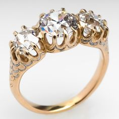 What i wouldnt do... Victorian Three Stone Old Diamond Ring