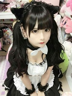 Cute Cosplay Cosplay Anime, Cute Cosplay, Cosplay Outfits, Cosplay Girls, Cute Asian Girls, Cute Girls, Cute Kawaii Girl, Cute Goth, Maid Outfit