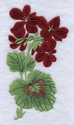 #GERANIUM #Embroidery