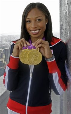 """Allyson Felix: US track and Fields biggest star she has won 6 Olympic medals four of them Gold and 10 World Champ. Medals 8 of them gold. She is a Daughter of a Christan Minister this quote has hit many in the heart """"My faith is the reason I run. it calms my heart and makes everything feel like a lift. My speed is definitely a gift from Him, and I run for His glory. Whatever I do, He allows me to do it."""""""
