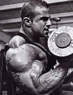 Bodybuilder Fouad Abiad Working Out