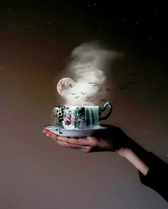 Surrealism Photography, Fantasy Photography, Coffee Photography, Creative Photography, Storm In A Teacup, Fairy Drawings, Winter Coffee, Coffee Instagram, Coffee Photos