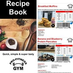 Our new recipe book - integrated with @myfitnesspal and also containing demo videos of each meal