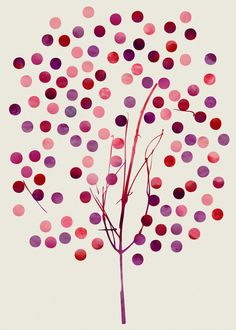 Tree of Life_Berry by Jacqueline Maldonado & Garima Dhawan Art Print/Society6