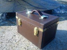 Brown Adagio makeup case by ZoltanTrunk Wine Boxes, Makeup Case, Storage Chest, Trunks, Brown, Bags, Decor, Drift Wood, Handbags