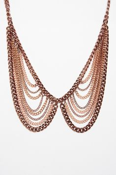 ShopSosie Style : Rose Metal Collar Necklace