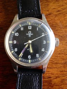 "Gents Rare Vintage Military ""Omega"" 1953 Fat Arrow Pilots Watch"