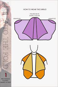 DiaryofaCreativeFanatic: Needlecrafts - Knit   Sew   Crochet - Easy Fold Shrug