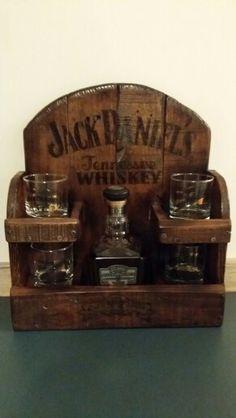Jack lives here. Reclaimed pallet wood JD rack.