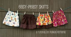 Easy-Peasy Skirts - very simple gathered skirt tutorial Toddler Skirt, Toddler Outfits, Kids Outfits, Sewing Hacks, Sewing Tutorials, Sewing Projects, Crochet Tutorials, Sewing For Kids, Baby Sewing