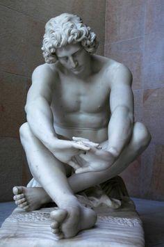 Le Désespoir - Marble Sculpture by Jean-Joseph Perraud (1869)