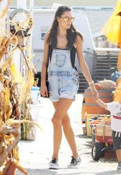 Alessandra Ambrosio takes her son Noah to visit Mr. Bones Pumpkin Patch in West Hollywood, Calif. on Oct. 13, 2014.