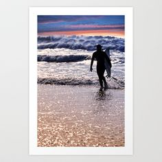 Sunset Surfer Art Print by  Alexia Miles photography - $15.60
