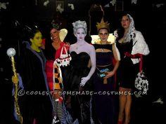 Fantastic Female Disney Villains Group Costume