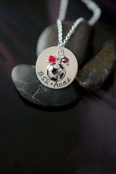 Cute necklace for the soccer mom