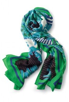 Union Square Scarf - Spring Green Mixed Print - http://www.stelladot.com/aliciahazen