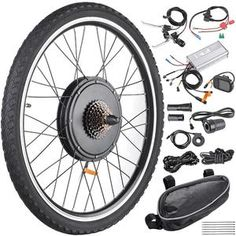 Rear Wheel Electric Bicycle LCD Display Motor Kit Ebike Conversion for sale online Electric Bicycle Kit, Cheap Electric Bike, Best Electric Bikes, Electric Power, Cycling Equipment, Cycling Bikes, Motor Works, Bicycle Maintenance, Cool Bike Accessories