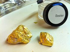 DIY - Gold-Dipped Raw Gem Jewelry - jamie b. hannigan