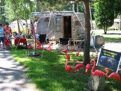 Annual Northern Indiana Vintage Trailer Jam Vintage Travel Trailers, Vintage Campers, Travel Camper, Little Campers, Movin On, July 25, Caravans, Van Life, Motorhome
