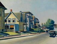 "Edward Hopper Sun on Prospect Street Giclee Canvas Print Paintings 26.5""x20.4"""