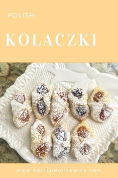 recipe for Polish kolaczki cookies, perfect for Christmas or Easter!A recipe for Polish kolaczki cookies, perfect for Christmas or Easter! Slovak Recipes, Czech Recipes, Hungarian Recipes, Austrian Recipes, Ukrainian Recipes, Vegan Recipes, Ethnic Recipes, Cookie Desserts, Cookie Recipes