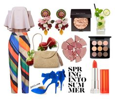 """""""Spring Into Summer"""" by jakiishoes on Polyvore featuring Milly, ESCADA, Mar y Sol, Dolce&Gabbana, Charlotte Tilbury, MAC Cosmetics, Laura Mercier and Maybelline"""
